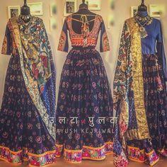 By Ayush Kejriwal For purchases email me at designerayushkejriwal@hotmail.com or what's app me on 00447840384707 We ship WORLDWIDE. Instagram - designerayushkejriwal Indian Wedding Outfits, Indian Outfits, Ethnic Fashion, Asian Fashion, Garba Chaniya Choli, Chanya Choli, Kurti Styles, Anarkali, Lehenga