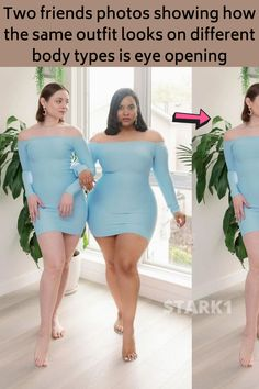 Body shaming is real and it's a thing a lot of people have to deal with every single day. It doesn't pick a specific subject. Whether you're skinny, plus-sized, small or tall, you're bound to experience it at some point in your life. To help put an end on this issue, Maria Castellanos and Denise Mercedes are using the power of social media to open people's eyes and break the rules of society. With two different body types, they post videos and pictures showing off their similar looks. They… Fashion 2020, Look Fashion, New Fashion, Girl Fashion, Fashion Tips, Curvy Outfits, Date Outfits, Body Positivity, Trending Today