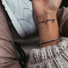 Daily reminder 💪🏼 #keepgoing #tattoo