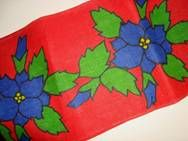 Retro Christmas danish textile table runner - 1970es. Material is jute. 30 x 145 cm.  #retro #danish #christmas #textile #1970 #dansk #jul #tekstil #bordloeber