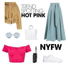 """""""Untitled #79"""" by maggiedow ❤ liked on Polyvore featuring Miss Selfridge, Temperley London, Étoile Isabel Marant, Vans, For Art's Sake, Victoria Beckham, MAC Cosmetics, contestentry and NYFWHotPink"""