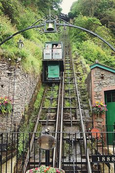 Cliff Railway Lynmouth below, Lynton up the top, been on this many times, saves a steep walk. Jx