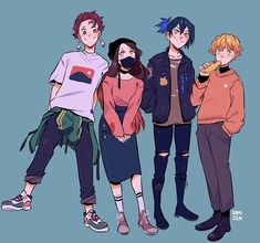 kimetsu no yaiba Manga Anime, Fanarts Anime, Anime Meme, Otaku Anime, Anime Characters, Slayer Meme, Anime Sensual, Japon Illustration, Dragon Slayer