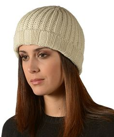 Take a look at this Ecru Diamante Alpaca Wool Beanie by KUNA on #zulily today!