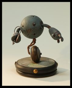 Robot scale model by Alix Laine. #robot #scifi