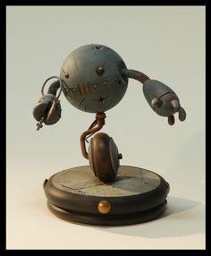 Robot scale model by Alix Laine. #robot #scifi