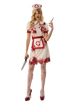 Womens Bloody Nurse Costume - FOREVER HALLOWEEN