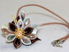 hearband hair-accessories Kanzashi handmade Flowers by zavituwka