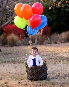 My grandson Preston. One year old already. I saved this idea for his birthday pictures. :) Glad it turned out!