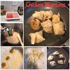Easy chicken wontons Chicken Wontons, Lettuce Wraps, Allrecipes, Love Food, Muffin, Breakfast, Breakfast Cafe, Muffins