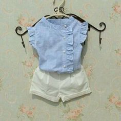2017 Summer Baby Teenage Child Girls Blouse Striped Cotton Sleeveless Tank Schoo… 2017 Summer Baby Teenage Child Girls Blouse Striped Cotton Sleeveless Tank School Girl Tops And Blouses Shirts For Kids Kids Outfits Girls, Little Girl Dresses, Shirts For Girls, Baby Outfits, Kids Shirts, Baby Girl Fashion, Fashion Kids, Fashion Dolls, Baby Dress Design