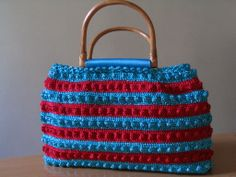blue & red bag