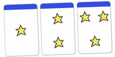 Count the Stars Activity Cards (1-5) - education, home, free