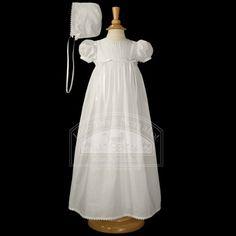 Baby Girls White Bonnet Slip Christening Dress Set 3M $98.99