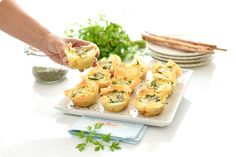 Quiches, Tapas, Healthy Recepies, Pizza, Canapes, Finger Foods, Baked Potato, Potato Salad, Side Dishes
