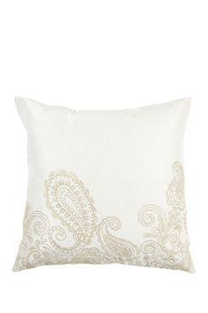 Metallic Gold Paisley Pattern Pillow by Surya on @HauteLook