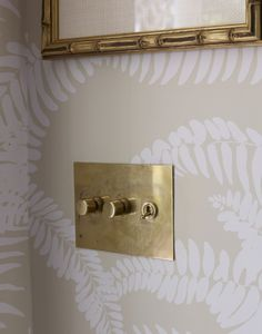 A beautiful example of how our un-lacquered brass plates age with time if left to mellow naturally. Seen on lacqueredlife.com blog - Photos via Francesco Lagnese, wallpaper by Meg Braff