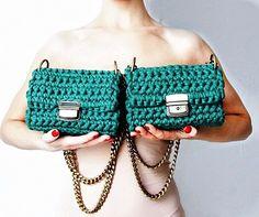 сумочка связанная из трикотажной пряжи