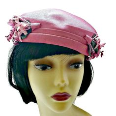Bright Pink Hat Flowers Women's Pillbox by EclecticVintager