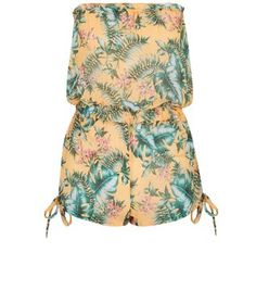 Summer holiday styles made easy with this amazon print bandeau playsuit - wear with cross strap sandals to complete the look.£9.99, New Look.