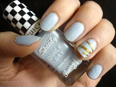 Spring Nail Art featuring Barry M shade Eat My Dust