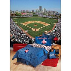 Chicago Cubs Bedroom For Luke S New Baseball Room
