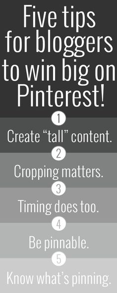 5 Tips for Bloggers to win Big on Pinterest.