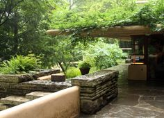 Guest house at Fallingwater by Frank Lloyd Wright