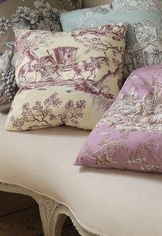 toile pillows