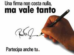 In tutti i comuni di Italia, presso i banchetti preposti aiutaci a chiedere questo referendum.
