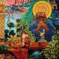 #ofertorio #alucinante #alvivero Portrait Illustration, Art Illustrations, Fashion Illustrations, Aztec Warrior, Mesoamerican, Pop Surrealism, Mexican Art, Visionary Art, Art Drawings