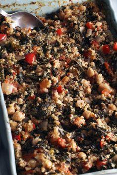 Quinoa Kale Chickpea Bake