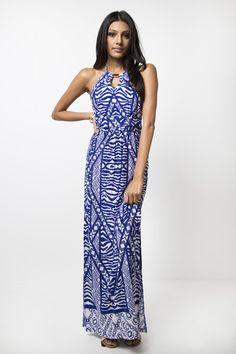9a998fc8938 Ivory Coast Halter Maxi Dress www.pleatedempire.com Halter Maxi Dresses