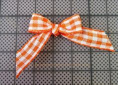 After looking at several tutorials on how to tie a bow with a fork, this was the easiest to follow. My bows turned out ridiculously cute!!!