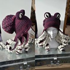 95 отметок «Нравится», 1 комментариев — Natalie Allen (@twistedhatter1981) в Instagram: «#octopus #crochet #hat #dark»