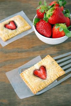 Five Sweet Ideas For Valentines Day 3. strawberry nutella poptarts via: The Novice Chef