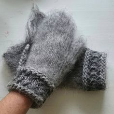 Lovikka mittens! They get really soft, cosy and warm when you card them on the inside and the outside!