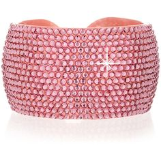 VANITY HER ADELIA Pink Crystal Bangle ($52) ❤ liked on Polyvore featuring jewelry, bracelets, accessories, pink, jewels, pink jewelry, hinged bracelet, pink crystal jewelry, pink bangle bracelet and crystal stone jewelry