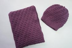 Scarf & Hat Set, %50 wool and acrylic hat and scarf, purple knit hat and scarf,