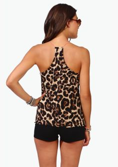 Leopard Racer Back Tank on Wanelo