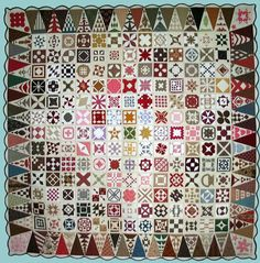 Wow, beautiful Dear Jane quilt! It would only take me like a million years!