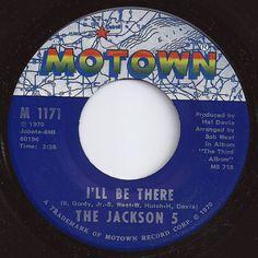 I'll Be There / Jackson 5 #1 on Billboard 1970 Vinyl Records, 45 Records, Vintage Records, Vintage Music, Vintage Food, Vintage Stuff, Tamla Motown, Four Tops, Jackson 5