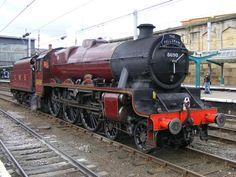 LMS 'Stanier' jubilee class No 5690 'Leander' Steam Railway, Gaston, Steam Engine, Steam Locomotive, United Kingdom, London, Classic, British, Blue