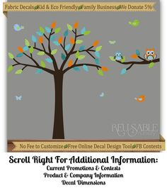 Etsy customisable tree wall decal