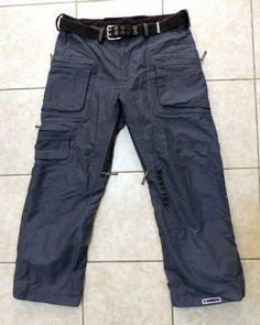 Bonfire Fusion T10 Mens Snowboard Ski Pants Belt Waterproof Blue Gray Sz L #Bonfire