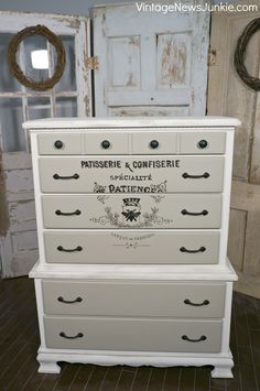 How to Paint a Vintage French Dresser