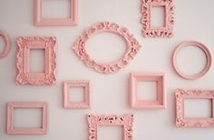 Pink pictures frames