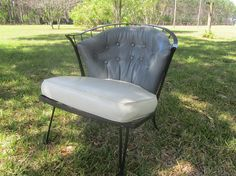 ❝∞ Mid Century Wrought #Iron Chair, Metal Chair, great retro decor, mid ce... Consider http://etsy.me/2pQJFCJ