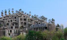 heatherwick studio's 1000 trees complex in shanghai well underway