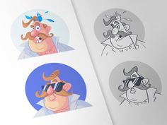 Cal Avatars by spovv #Design Popular #Dribbble #shots
